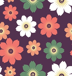 flowers pattern vector image
