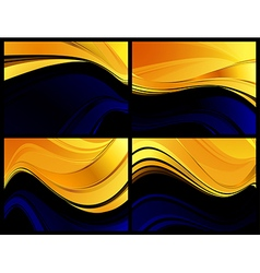 Gold darkness abstraction vector image