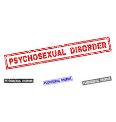 grunge psychosexual disorder scratched rectangle vector image