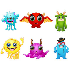 halloween monster set collection vector image