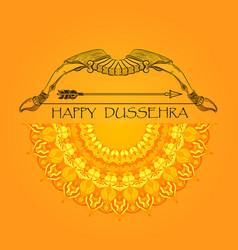 Happy dussehra indian festival poster vector