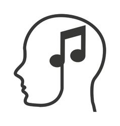 head human profile tech icon vector image