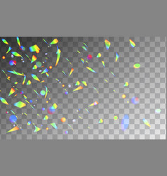 holographic rainbow confetti isolated on vector image