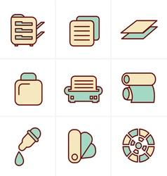 Icons Style Icons Style Print icons set elegant se vector image