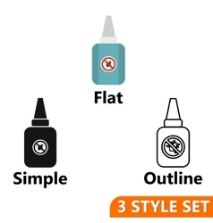 Insect spray icons set vector