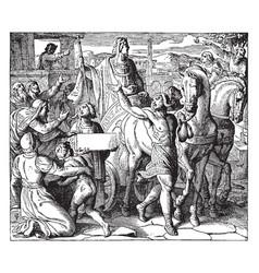 Joseph proclaimed ruler of egypt vintage vector
