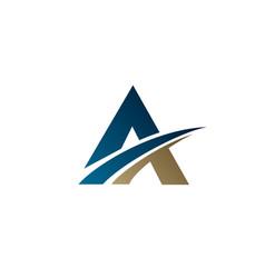 Letter a logo business corporation logo design vector