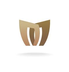 letter m logo template architecture building vector image