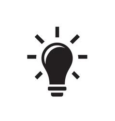 lightbulb - black icon on white background vector image