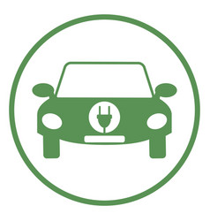 logo of electric car vector image