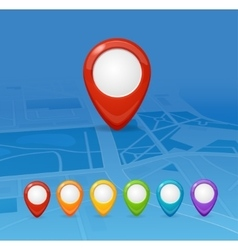 Maps and Pin Navigation vector image