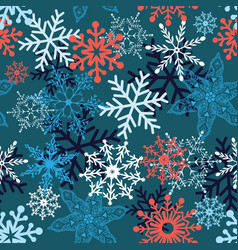 multi-colored snowflakes form vector image