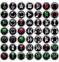 multimedia button vector image