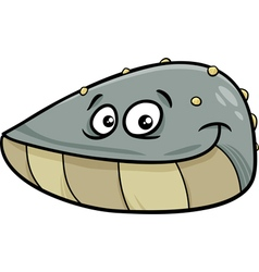Mussel mollusk cartoon vector