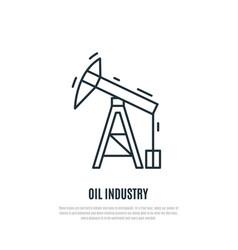oil pump line art style vector image