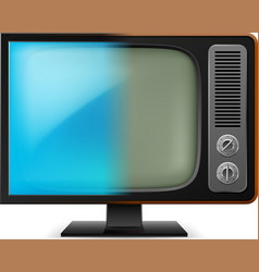 Old television on white for design vector