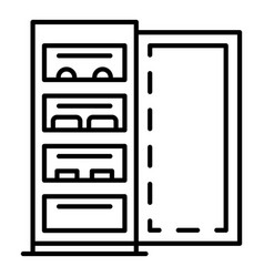 open fridge icon outline style vector image