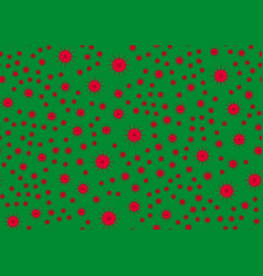 pattern on the green background vector image