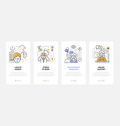 Psychological problems - modern line design style vector