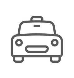 Public navigation line icon taxi vector