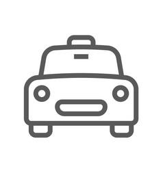 public navigation line icon taxi vector image