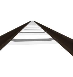 railway railroad track silhouettes vector image