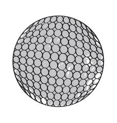 retro golf ball vector image vector image