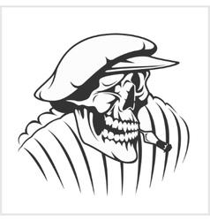 Russian farmer - skull and symbols vector