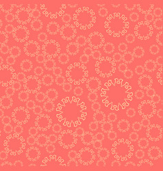 Seamless pink flower mandala for print on textile vector