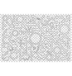 set hand drawn arrows vector image