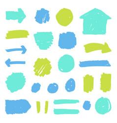 set paint grunge badges vector image