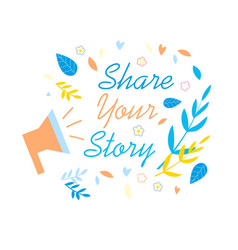 share your story social media promotion banner vector image