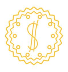 Silhouette metal emblem money sign design vector
