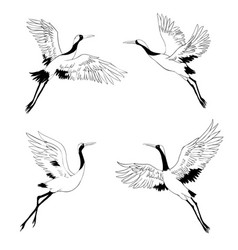 silhouette or shadow black ink icons crane vector image