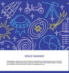 space elements concept background in line style vector image