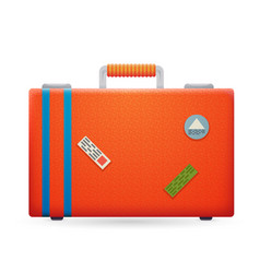 summer vacation trip traveler suitcase bag icon vector image