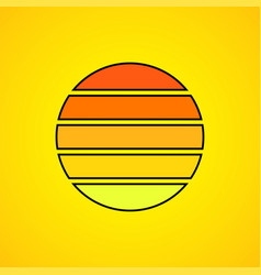 sun logo colorful stripes symbol sun vector image