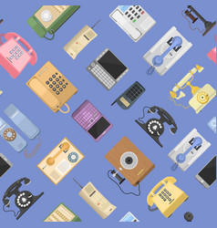 Telephones icons sealess pattern isolated vector