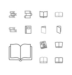 Textbook icons vector
