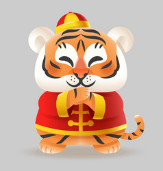 tiger celebrate chinese new year vector image