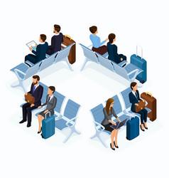 trendy people isometric 3d businessmen vector image