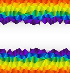 Triangular background strip vector
