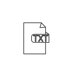 Txt format icon vector