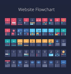 Website Flowchart 01 vector image