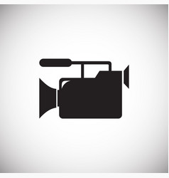 Wedding videography icon on white background for vector
