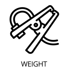 Welder weight icon outline style vector