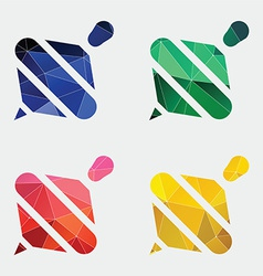 Whirligig icon Abstract Triangle vector