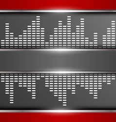 Abstract digital equalizer background vector image vector image