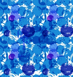 blue ink blots vector image