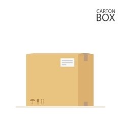 Carton box to send mail or packages sealed with vector image